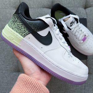 🤍💜💛 Nike Air Force 1 white galaxy purple